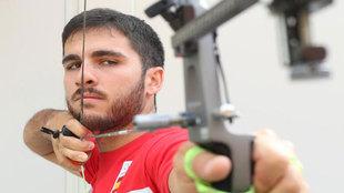 Juan Ignacio Rodríguez apuntando a la diana