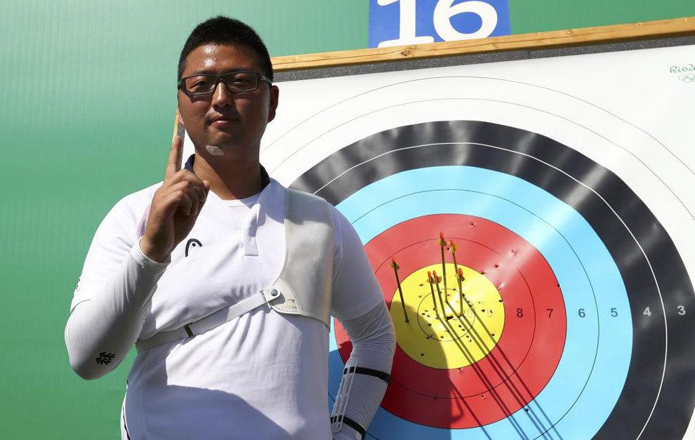 El coreano Kim Woo-Jin celebra su récord mundial