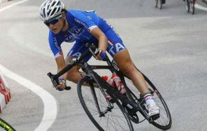 Elisa Longo Borghini (ITA), en el Mundial de Ponferrada.