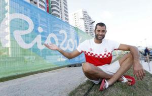 Xavi García, en la Villa Olímpica de Río
