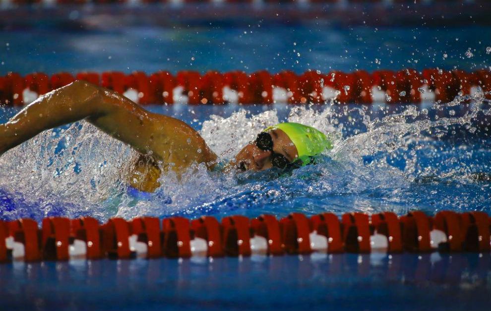 La nadadora, en los recientes campeonatos de España de verano.