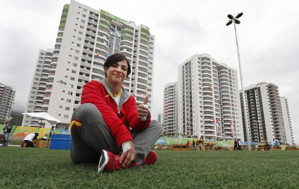 Julia Figueroa posa para MARCA en la Villa Olímpica.
