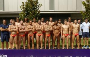 La selección masculina de waterpolo, en el CAR de Sant Cugat