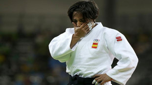 Julia Figueroa no pudo evitar llorar tras caer en primera ronda en los...