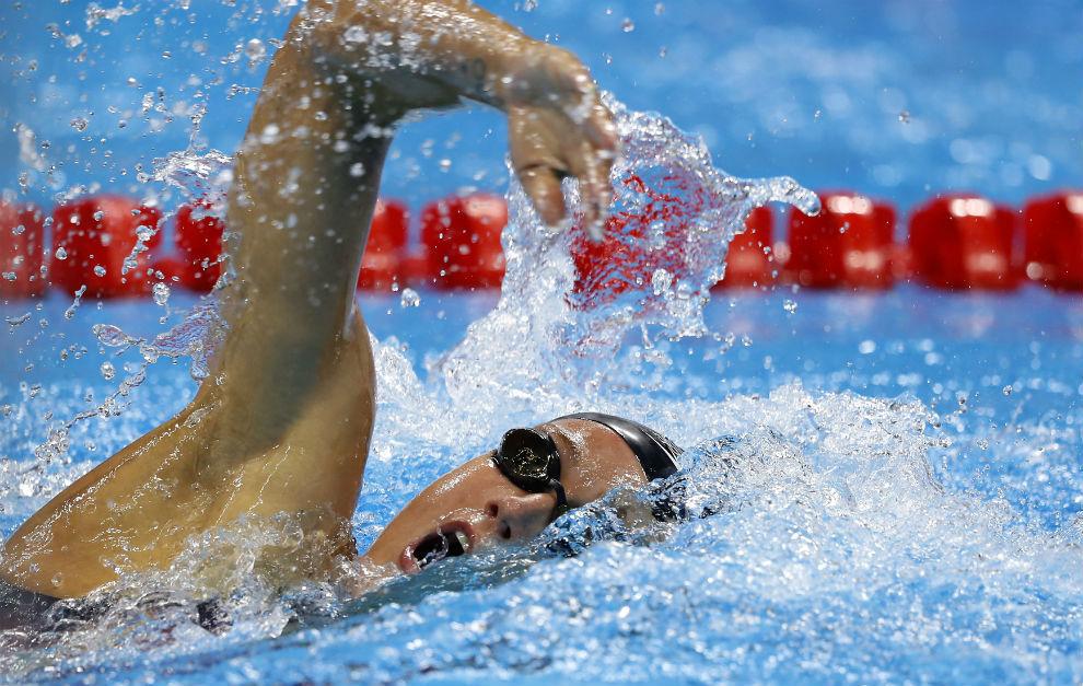 Mireia Belmonte, en la piscina olímpica.