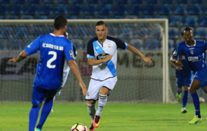 Lucas P�rez, en el duelo ante el Feirense.