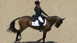 Albert Hermoso, durante su participación en la prueba con...