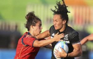 Patricia García durante el partido ante Nueva Zelanda