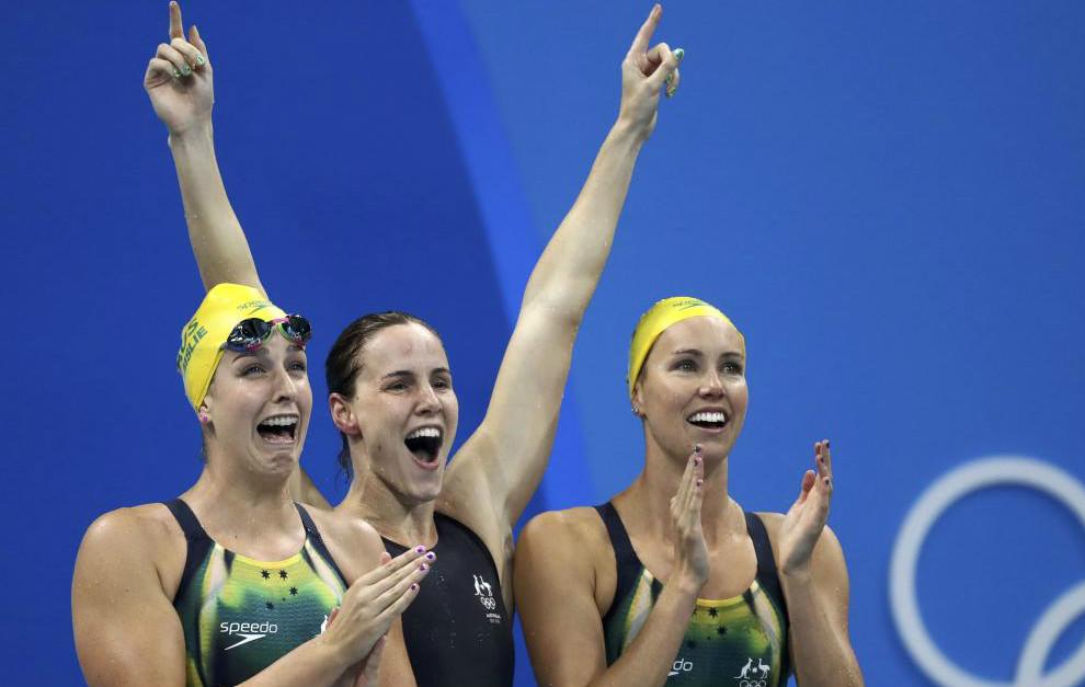 Equipo australiano celebrando