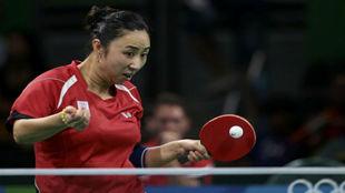 Yanfei Shen, en un momento del partido frente a Ni.
