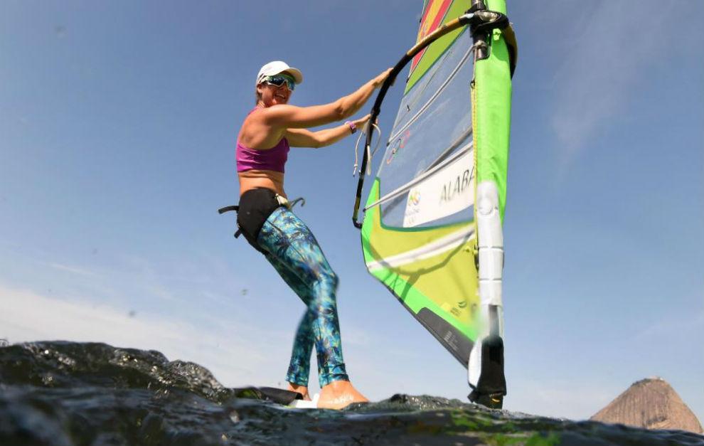 Marina Alabau, durante un entrenamiento el pasado sábado en Río.