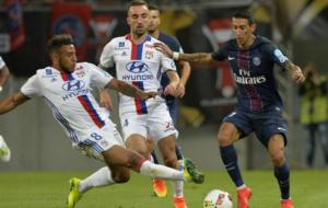 Di Mar�a, en el partido de la Supercopa francesa ante el Lyon.