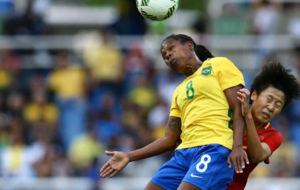 La brasile�a Formiga durante un partido en los Juegos de R�o.