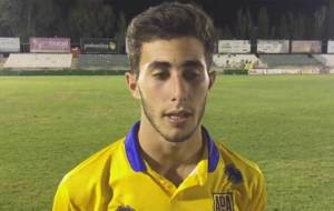 Jacobo Gonz�lez, tras el partido en el Salto del Caballo