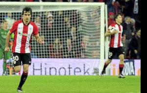Lekue durante un partido de la temporada pasada con el Athletic