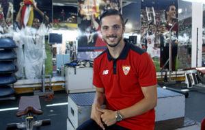 Pablo Sarabia posa para Marca.