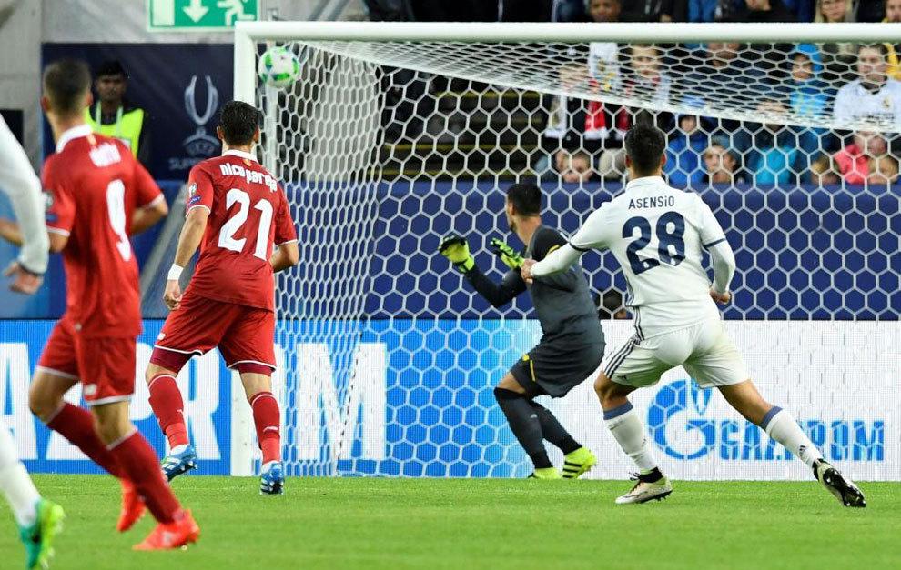 asensio real madrid gol sevilla supercopa europa