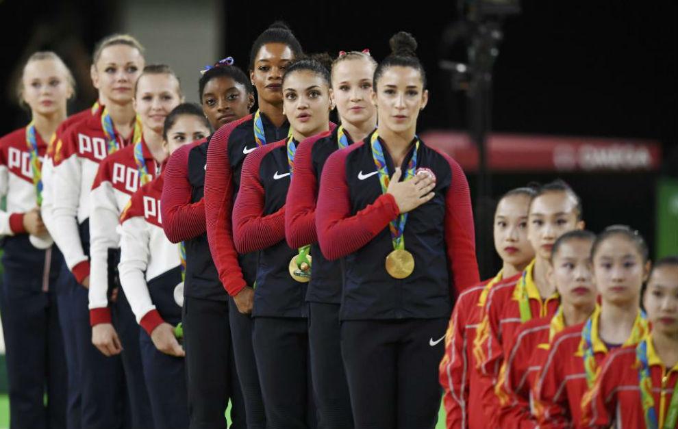 El podio final con Estados Unidos en lo más alto.