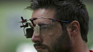 Pablo Carrera durante una prueba en los Juegos de Río.