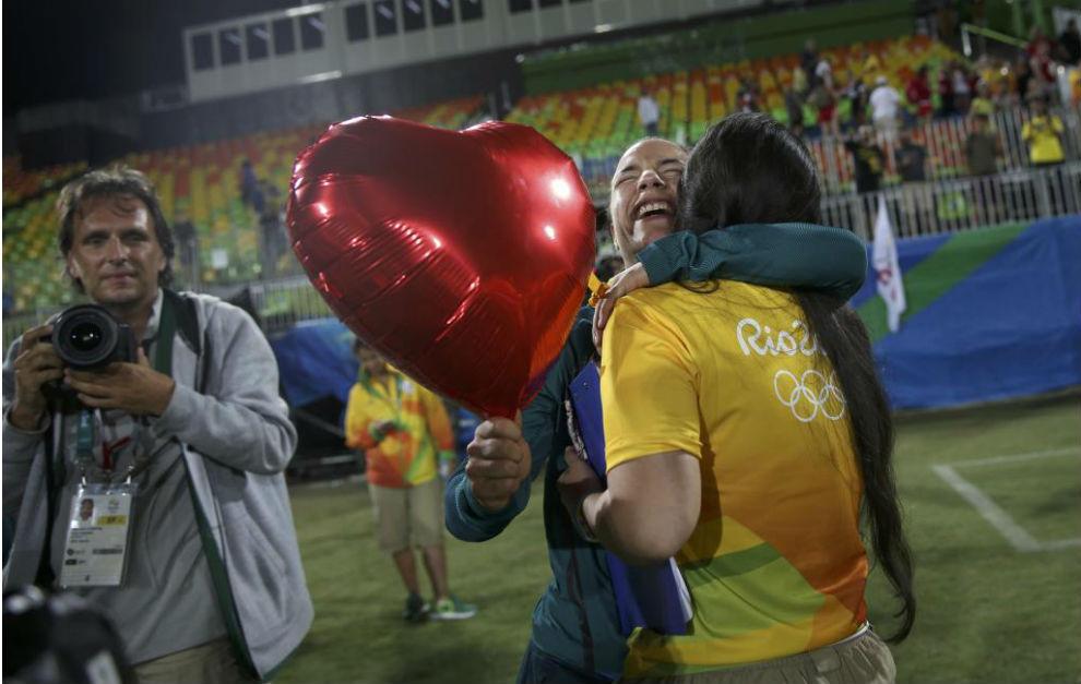 La declaración de matrimonio después del partido de Rugby7