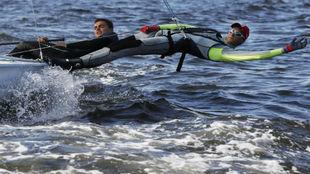 Xammar y Herp entrenando en la bahía