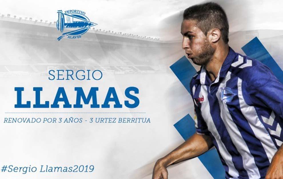 El Alavés hace oficial la renovación de Sergio Llamas hasta 2019.
