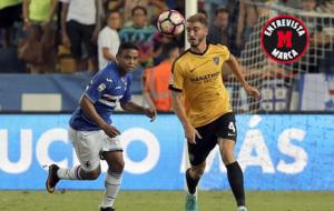 Mikel Villanueva, en un partido ante la Sampdoria de esta...