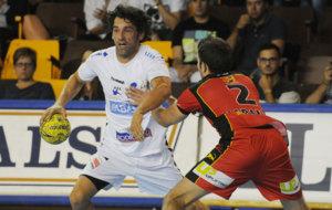 """Juan�n"" Garc�a en el Ademar-Huesca en septiembre de 2015"
