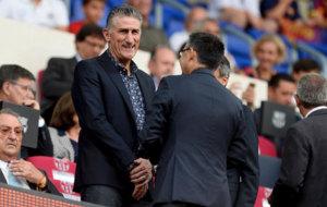 Bauza presente en el partido Barcelona-Sampdoria.