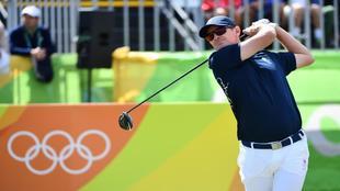 Justin Rose, durante la primera jornada del torneo olímpico de golf.