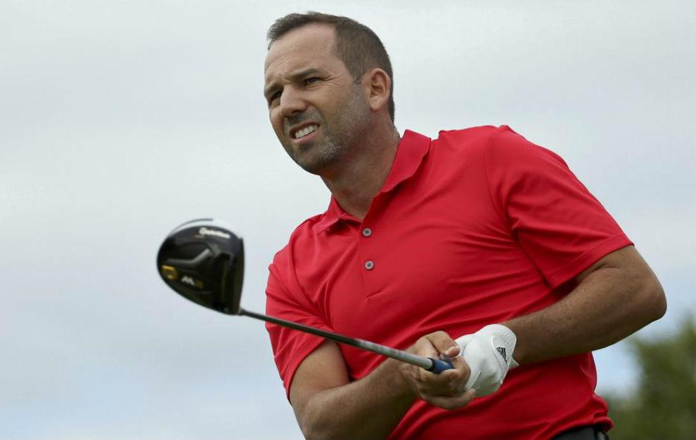 Sergio García, en el campo de golf de Barra.