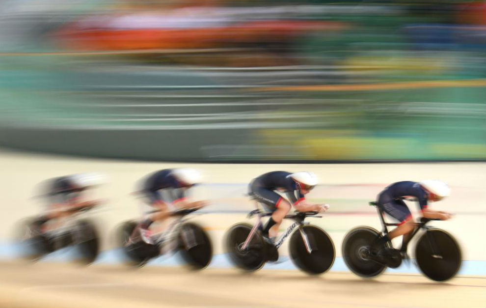 El equipo británico de ciclismo en pista.