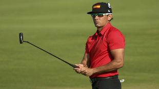 Cabrera-Bello, durante la primera jornada del torneo olímpico de golf