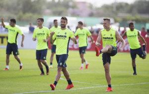 Cheryshev integrado en los entrenamientos con sus compa�eros