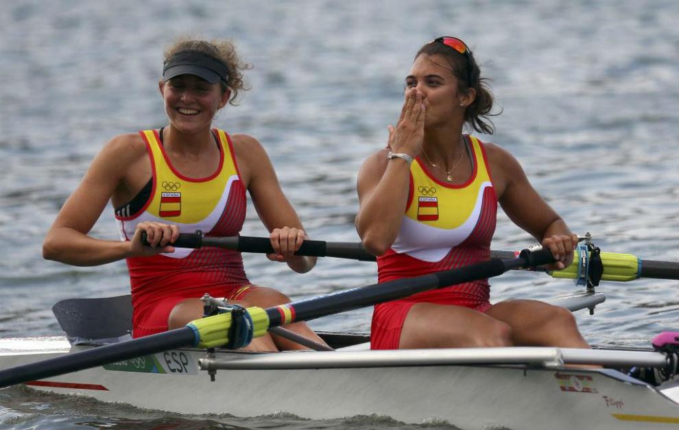 Anna Boada y Aina Cid tras una prueba en Río de Janeiro.