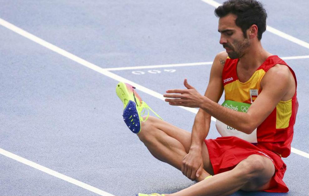 Kevin López se lamenta en el Estadio Olímpico