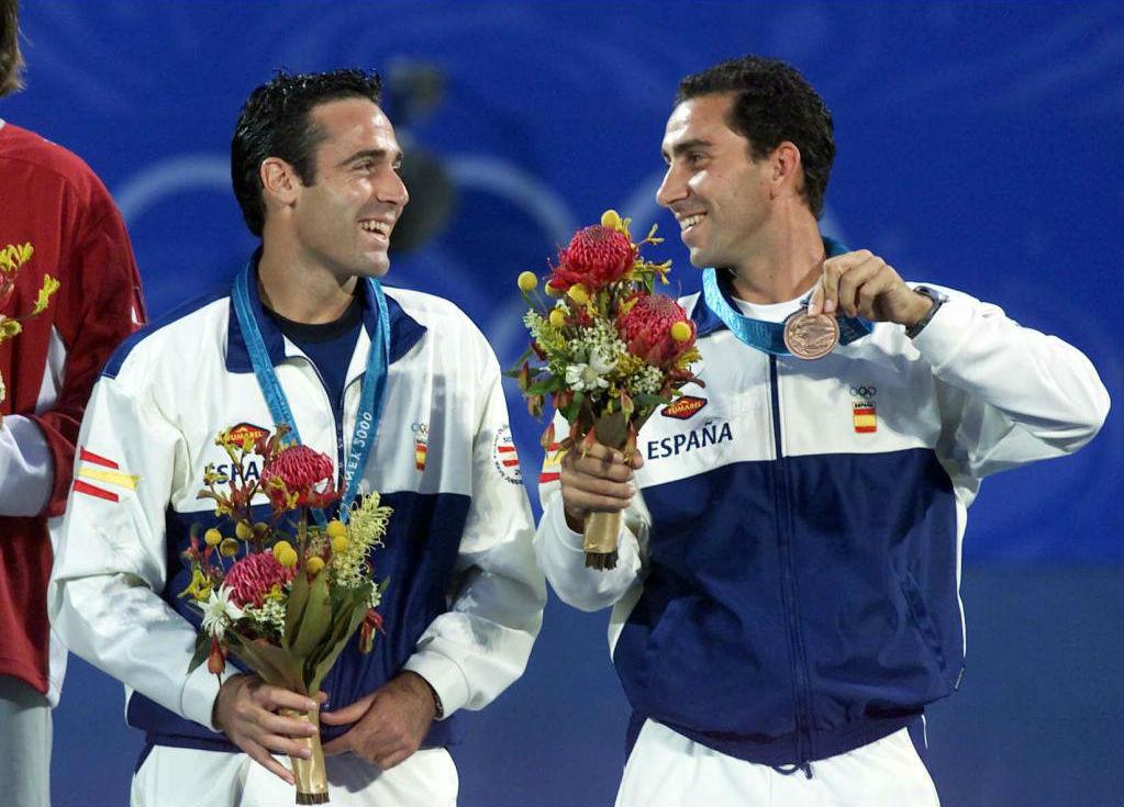 Alex Corretja y Albert Costa en Sidney 2000.