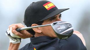 Cabrera-Bello, durante la segunda ronda del torneo olímpico de golf.