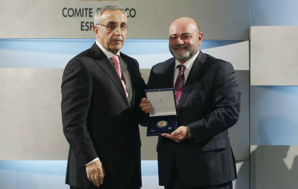 Emilio Estarlik, presidente del la Federación Española de...