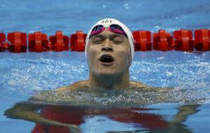 Yang Sun, al t�rmino de su serie en las eliminatorias de 1.500 libre