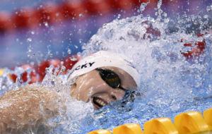 Katie Ledecky durante la final.