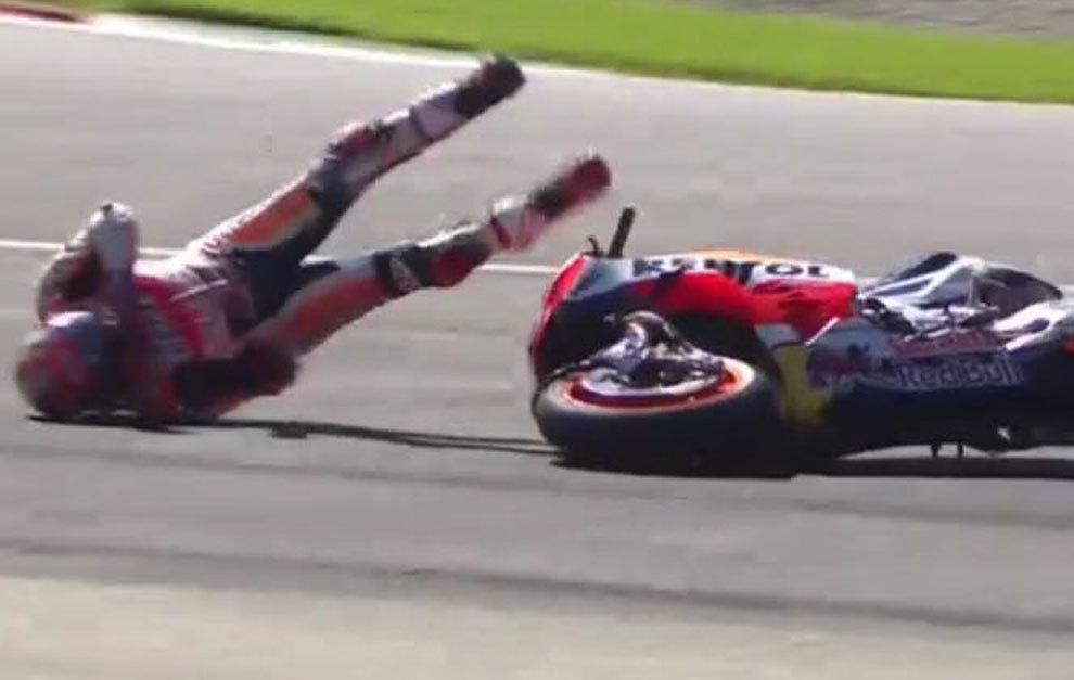 Fuerte caída de Márquez en la FP3