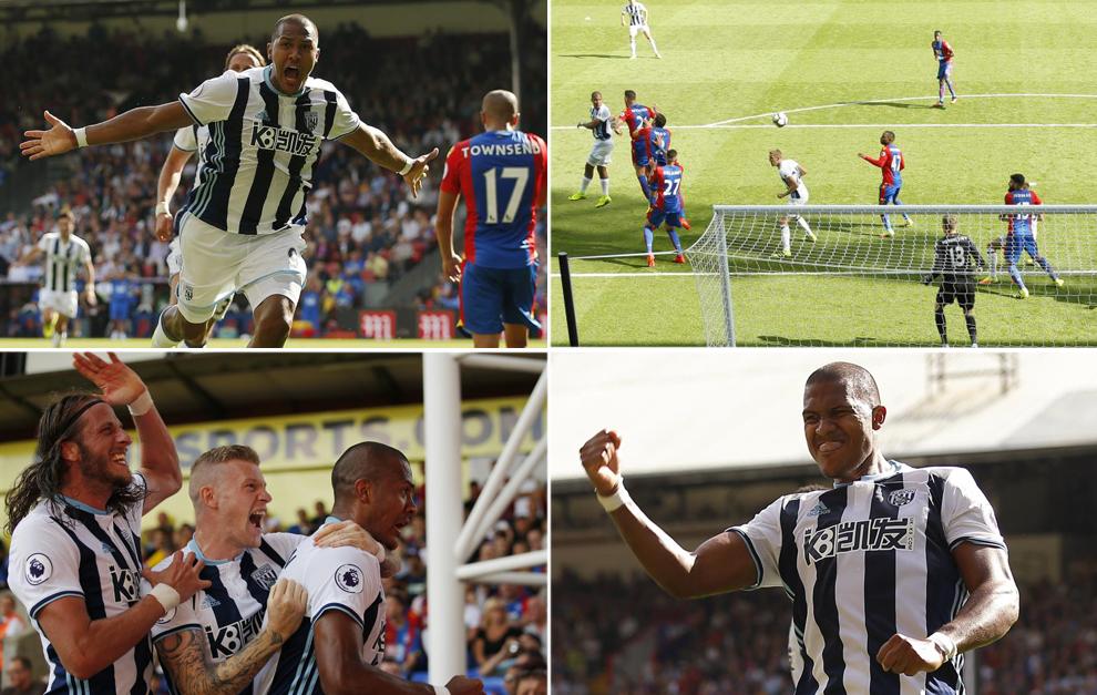 El gol y la celebración de Rondón ante el Crystal Palace.