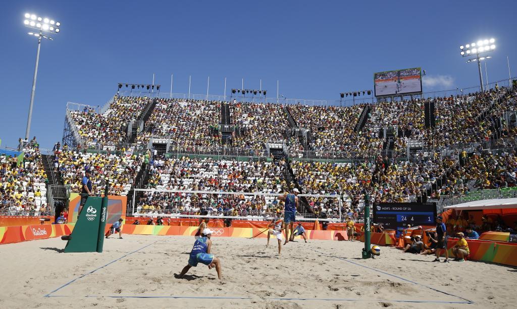 Partido entre Herrera-Gavira y Verruci-Schmidt en el Beach Volley...