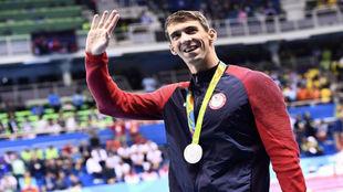 Michael Phelps tras una prueba celebrada en Río de Janeiro.