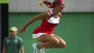 Mónica Puig, nueva campeona olímpica de tenis femenino.