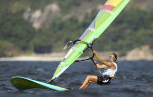 La reatista española Marina Alabau, campeona olímpica en 2012.