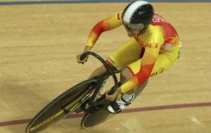 Tania Calvo, durante la prueba de sprint disputada este domingo.