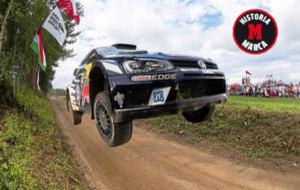 Ogier, el s�bado durante la segunda etapa del Rally de Polonia.
