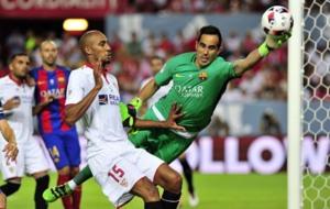 Bravo fue titular anoche ante el Sevilla en la Supercopa.